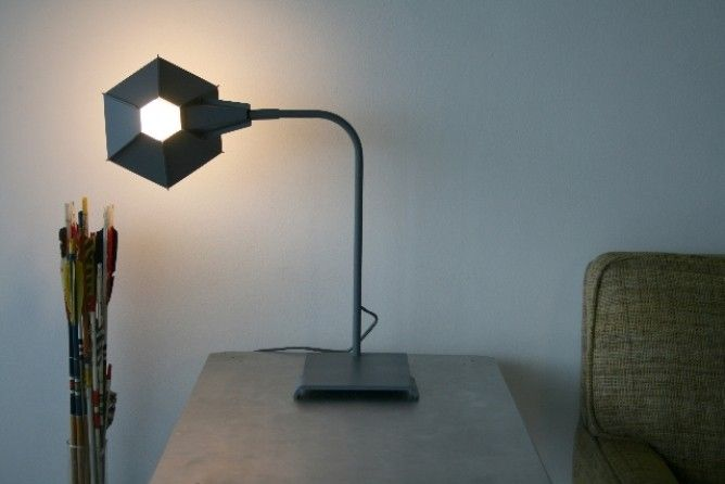 The original hexagonal table lamp with shade