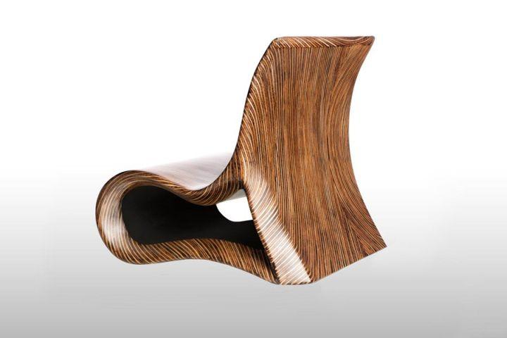Оригинални столове за откритата тераса или градина от Altoum Събиране на Rue Мосю Париж