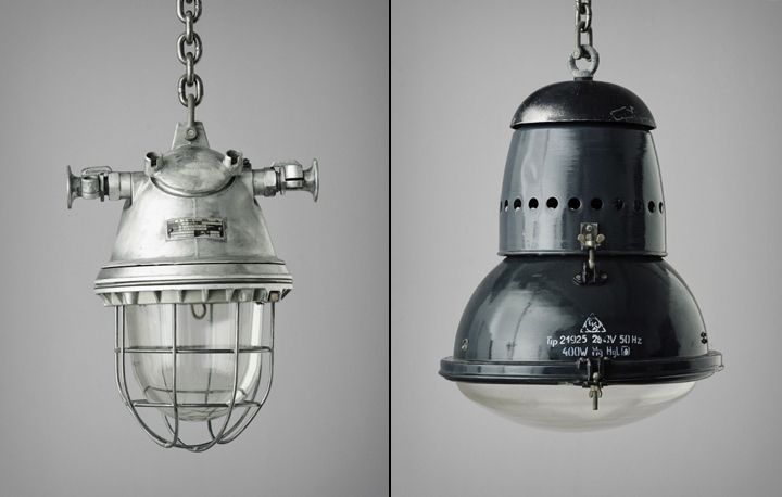 Original Vintage Industrial Lamp by Matt Szaplonczai