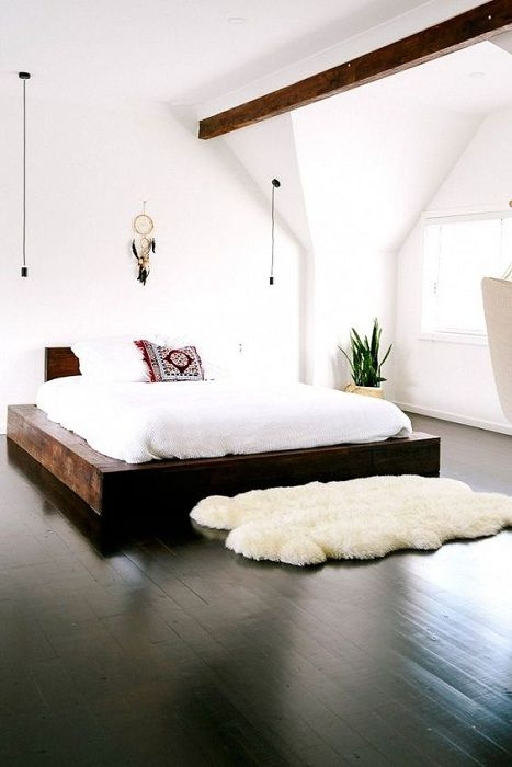 A good option to arrange the bedroom and create a warm and cozy atmosphere.