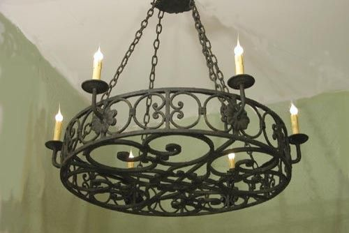 Luxury pendant lampshade forged in the interior