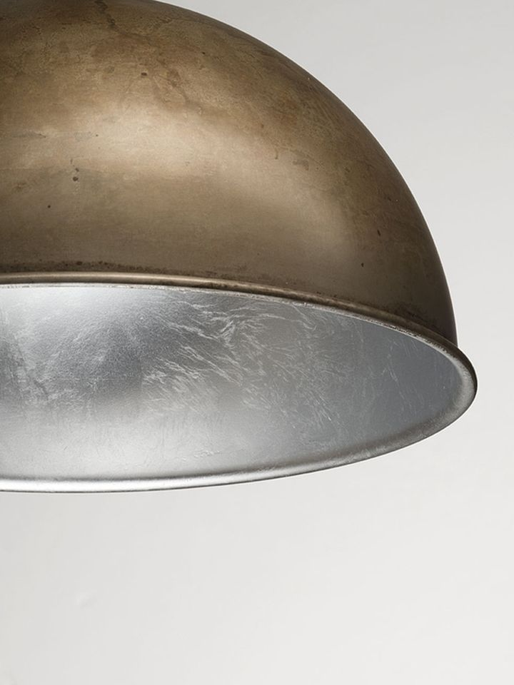Silver foil in the internal decoration of the ceiling lamp Galileo