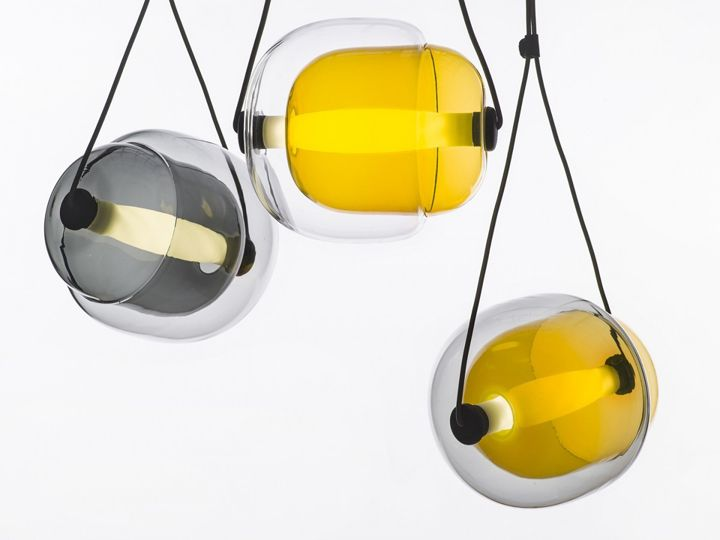 Bright hanging lamp Capsula by Lucie Koldova
