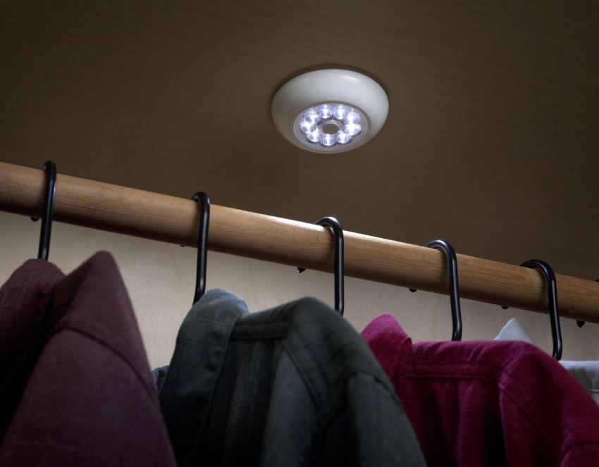 Interior lighting with wardrobe organization Fulcrum 30015 9-LED