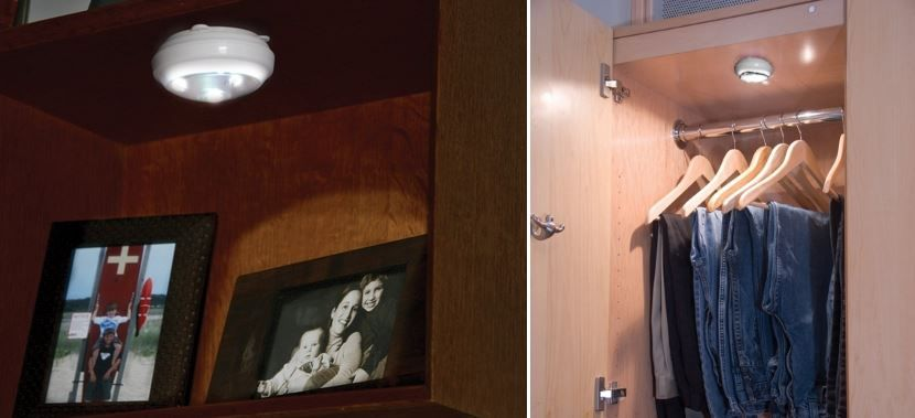 Design wardrobe with the organization of lighting Pegasus Lighting's LED