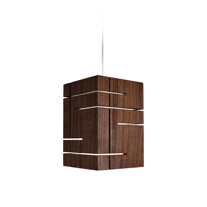 Suspended wooden lamp Claudo by Cerno