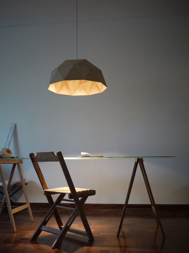 GeoLamp lamp from Mezzo Atelier on the table
