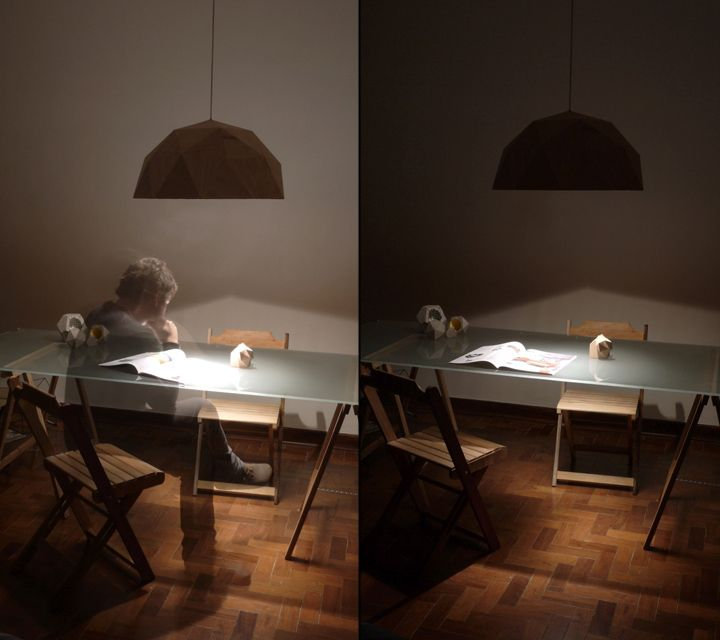 The process of working under a lamp GeoLamp from Mezzo Atelier