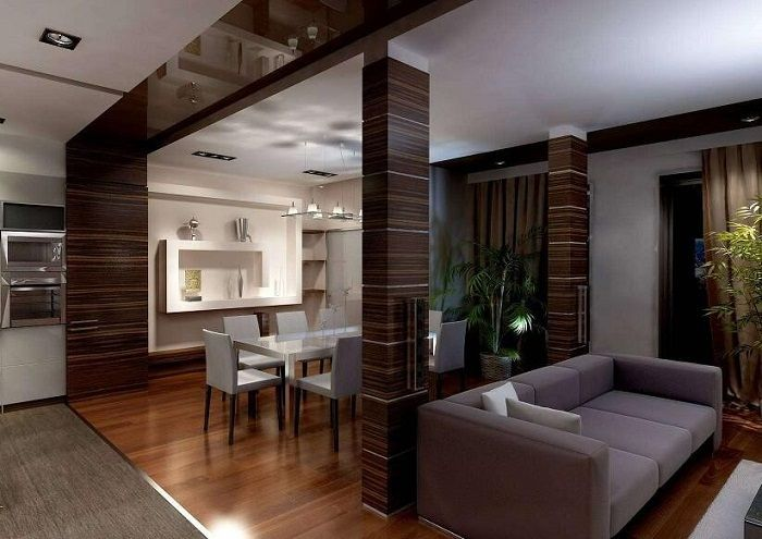 Stylish chocolate tones in the interior will be just and optimal solution for a bright decor.