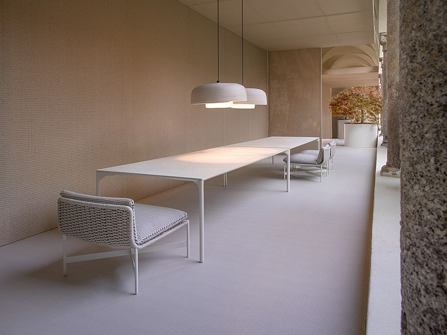 Unforgettable chairs, tables and lamps on the terrace