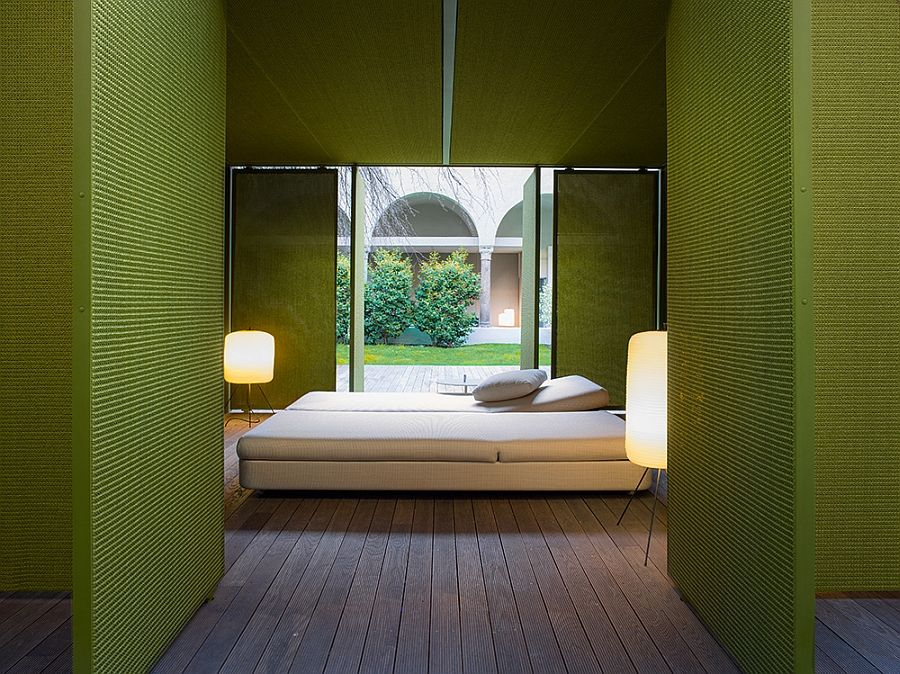 Wonderful bed and lights on the terrace