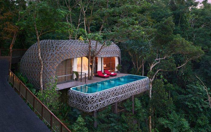 Paradise хотели, построени от бамбук