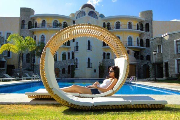 Charming chaise lounge by the pool