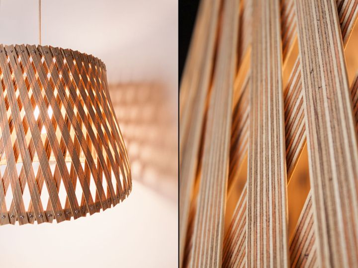 Unique woven lamp Upcycle by Benjamin Spoth