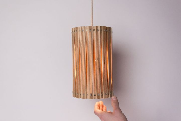 Cool woven lamp Upcycle by Benjamin Spoth