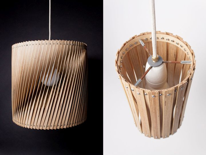 Beautiful woven lamp Upcycle by Benjamin Spoth