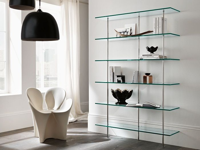 Contemporary furniture solutions from glass.