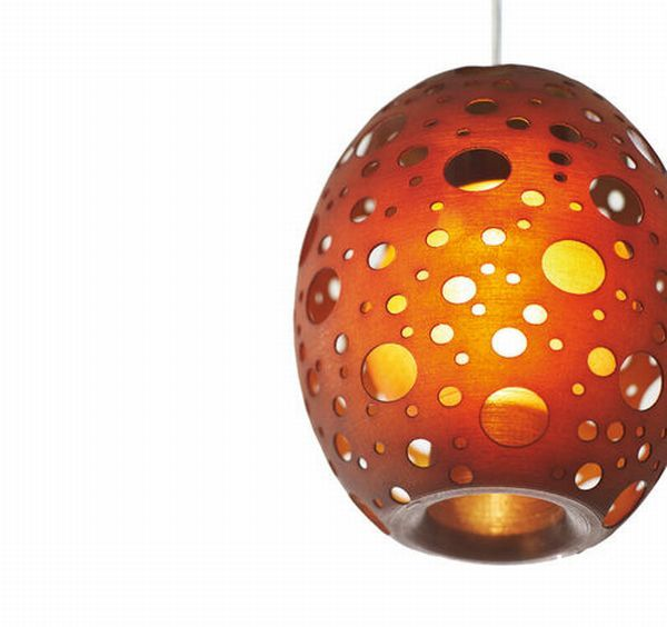 Amazing perforated hanging lamp