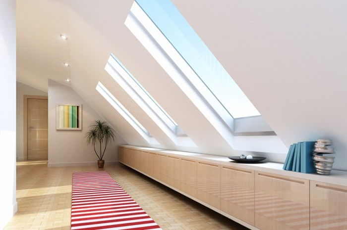 Beautiful design of the space under the loft area of ​​the house will add useful.