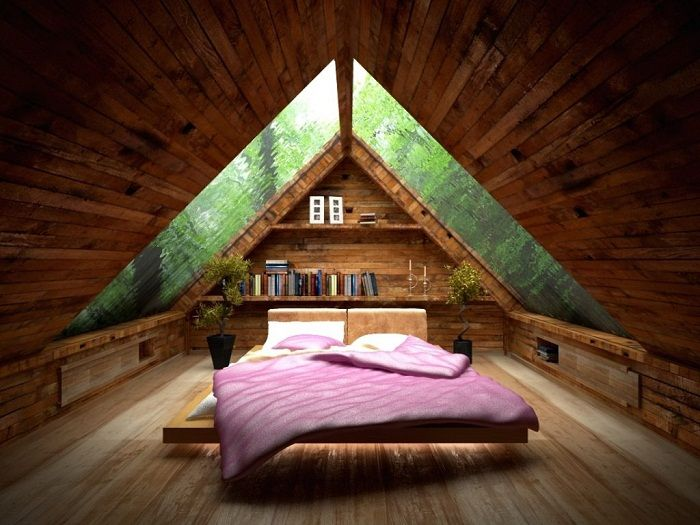Interior bedroom decorated in wood that exactly inspire experimentation.