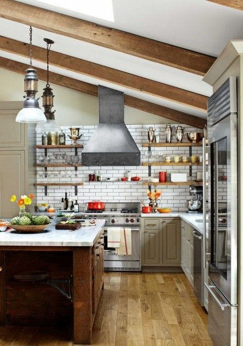 Add cuisine possible under the roof of the house, that would be the best solution and optimizes prostragsnstvo.