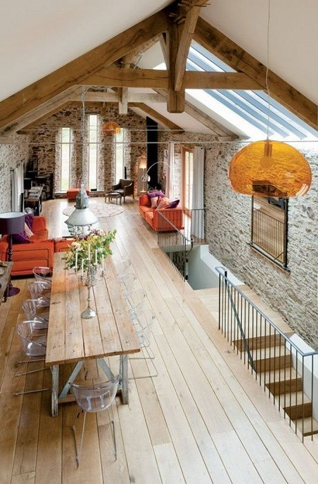 An interesting example of the decoration of the space under the loft - optimized and landscaped.