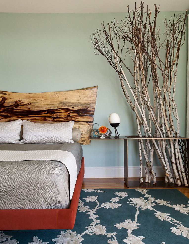 The wooden headboard