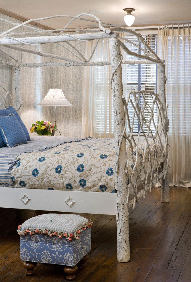 Fantastic bed with white canopy