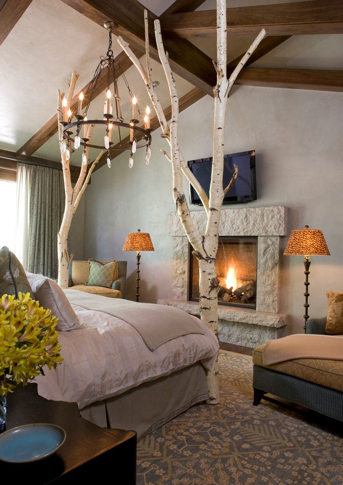 Interior design bedroom rustic