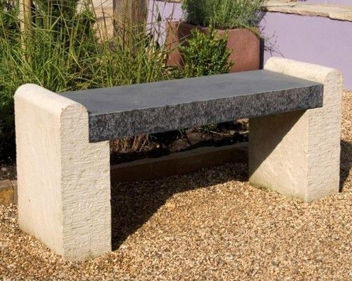 Classical stone bench