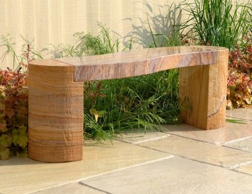 Bench made of granite