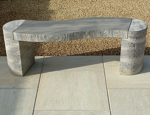 Winding marble bench