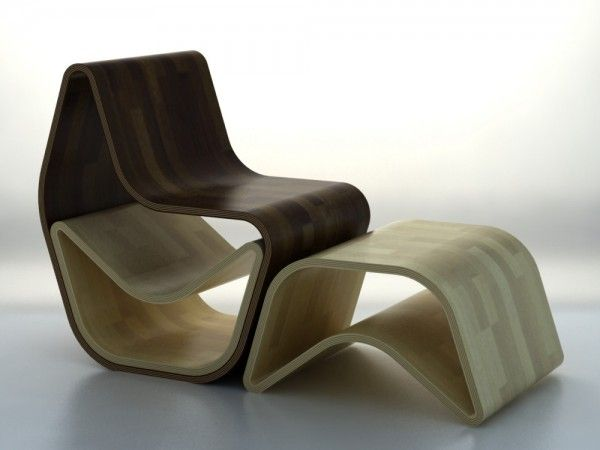 Luxury chairs made of wood