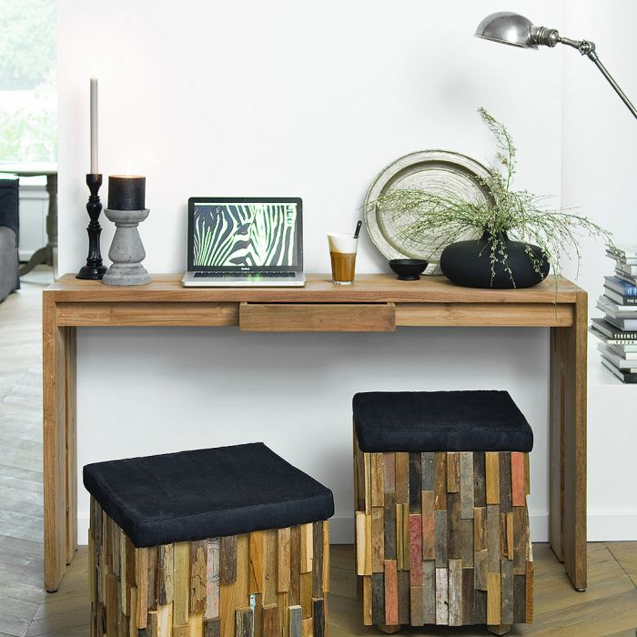 Console table - great for small living rooms.