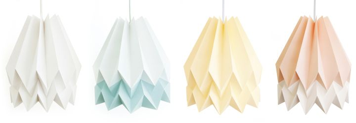Unique paper lamps Orikomi