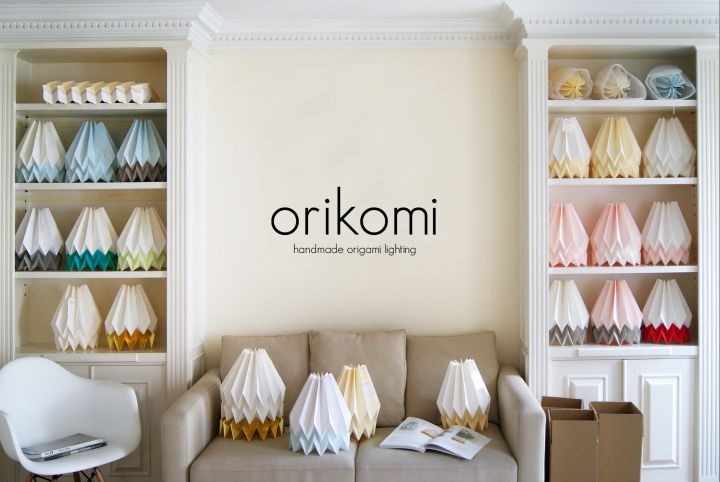 Collection of paper lamps Orikomi