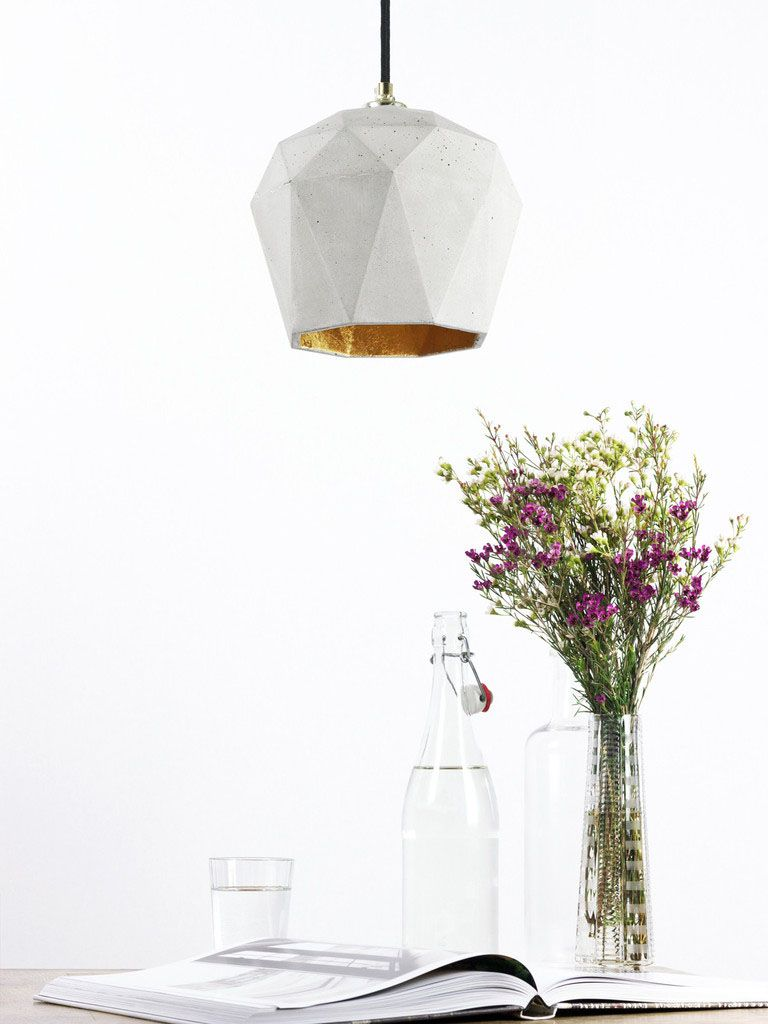 Unique hanging lamp Triangulate from the Bavarian designer Stefan Gant