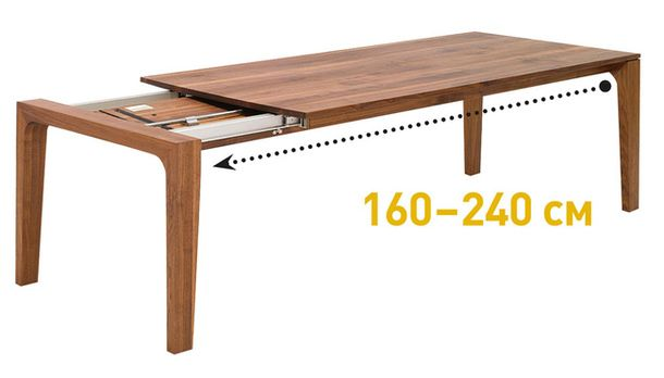 Transformed wooden dining table