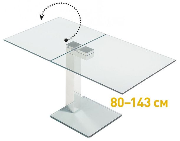 Transformed glass dining table