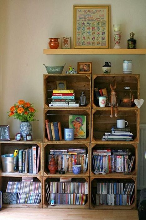 A good option to create a steep wooden cabinet with his own hands.