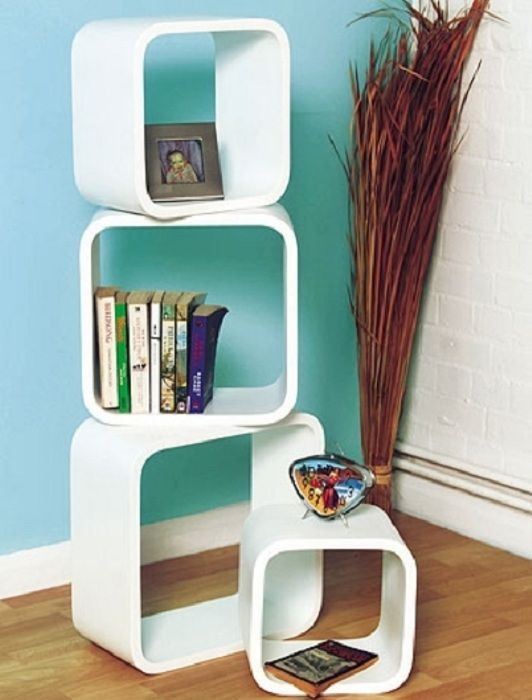 Cute modern shelves that can easily fit into the interior.
