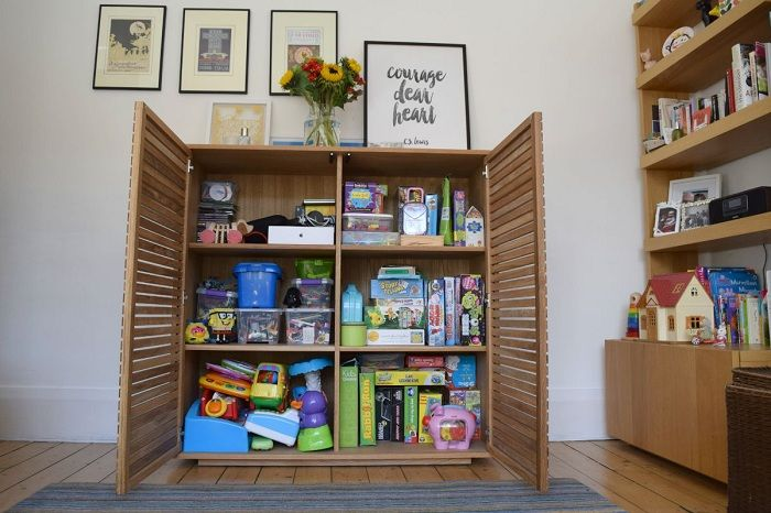 Optimum storage of children's things in one place, saving valuable room area.