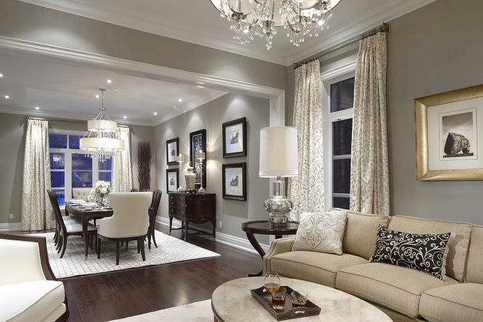 A great example of a living room interior design in soft cream colors.