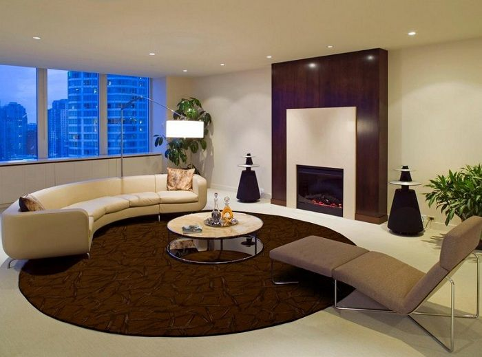 A good example of the living room decoration in gentle tones that will give extra comfort.