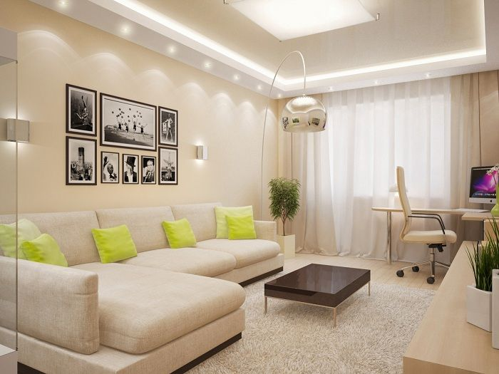 Interesting and good decor in beige tones that will add charm home environment.