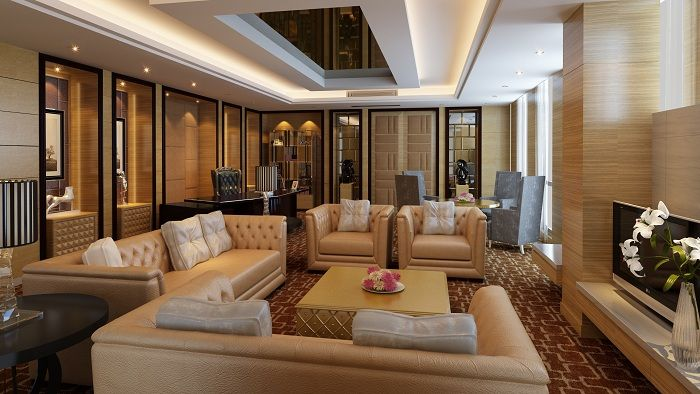 Aristocratic interior, which will be a godsend and a charming display of the host personality.