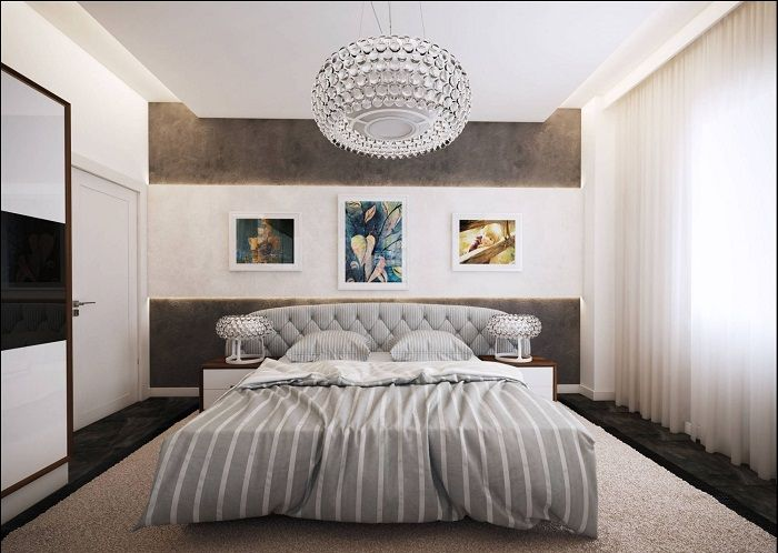 Steep example decorated bedroom with the addition of gray shades.