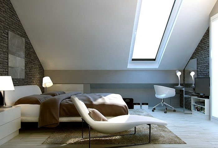 Charming loft bedroom that will be the best and be the best one for decoration.
