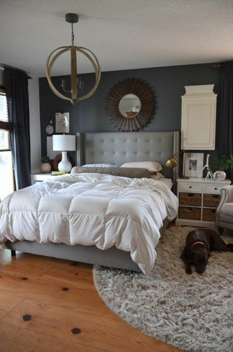 Steep example of decorating the bedroom in warm and comfortable colors that fill the home comfort.