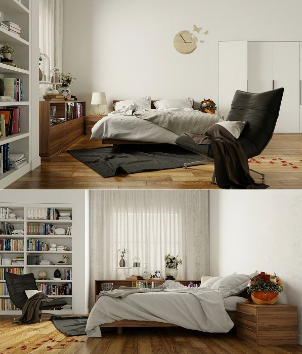 Pretty room decoration option for sleeping with modern trends.